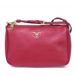 PRADA BORSA LEATHER MINI SHOULDER BAG